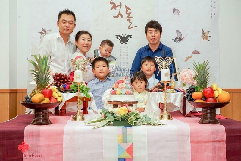 韓国伝統1歳誕生パーティ